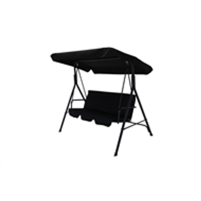 3 Seater Swing Seat - Black