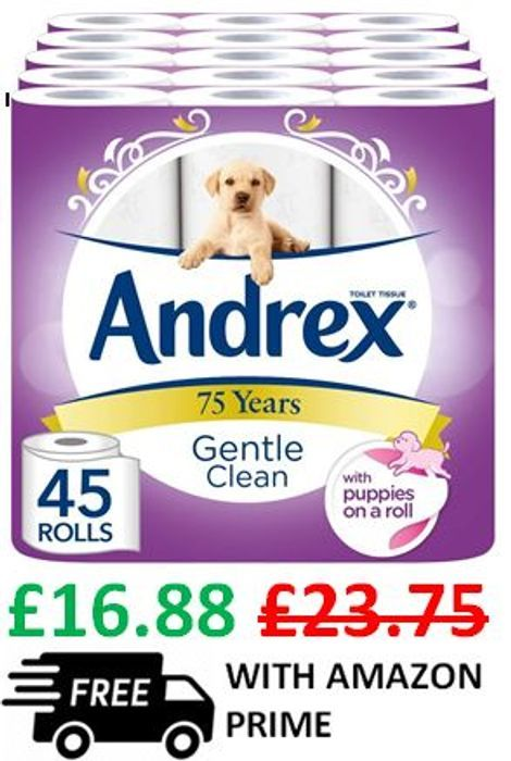 ANDREX! Gentle Clean SAVE £6.87 + Prime Delivery