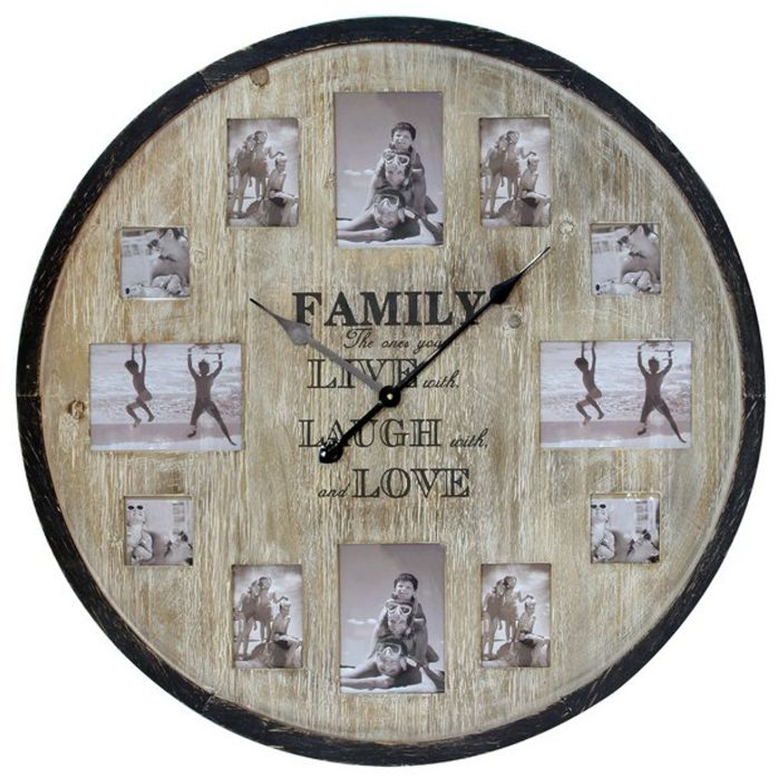Hometime Wooden Multi-Aperture Clock