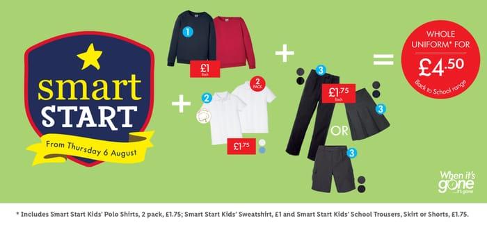 Lidl School Uniform Bundle for £4.50
