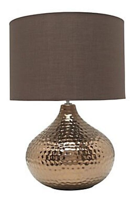 *SAVE £18* Colours Massilia Matt Bronze Effect Incandescent Table Lamp