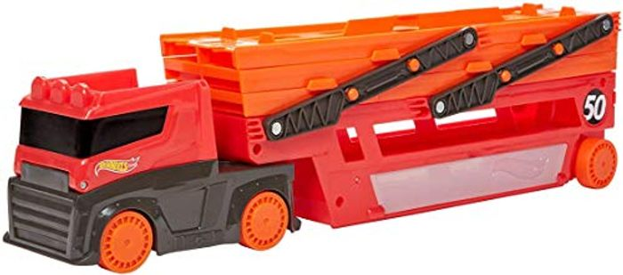 Hot Wheels Mega Hauler with Storage for up to 50 1:64 Scale Cars