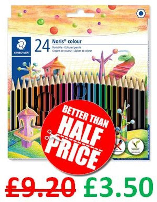 24 Staedtler Noris Colouring Pencils + FREE PRIME DELIVERY