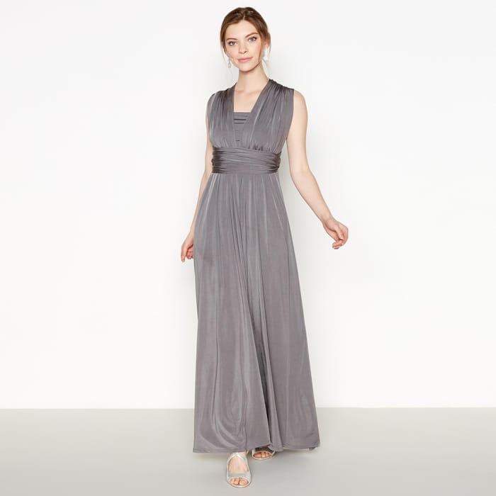 Debut - Grey Multiway Maxi Dress