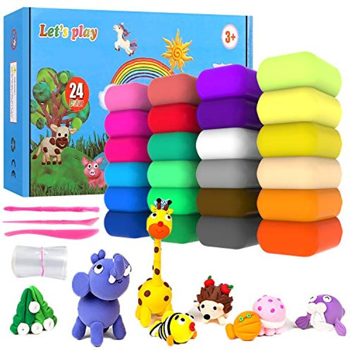 24 Colors Air Dry Clay