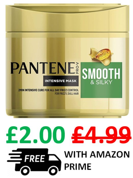 Pantene Smooth & Silky Hair Mask - for Frizzy, Dull Hair (FREE PRIME DELIVERY)