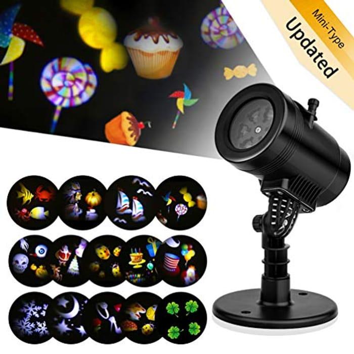 Price Drop! Haofy 14 Slides Rotating Snowflake Projector Spotlight