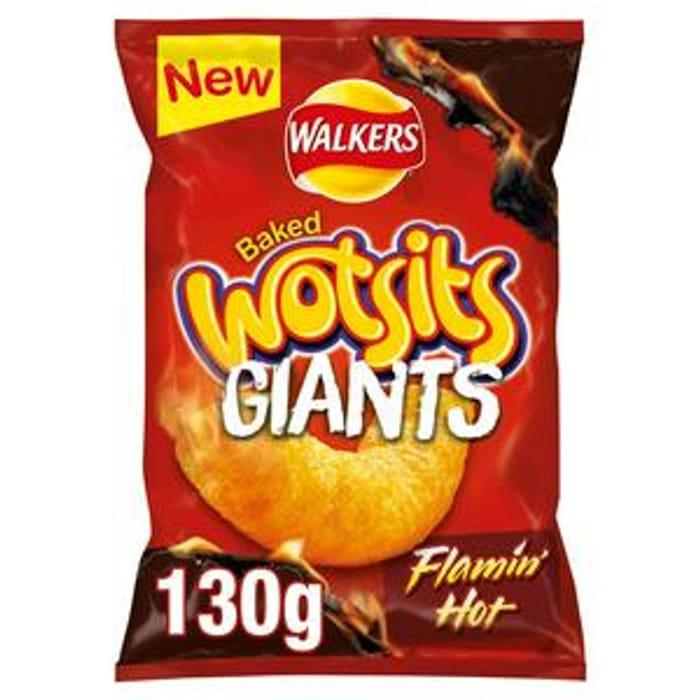 Walkers Wotsits GIANTS Flamin' Hot Snacks 130g