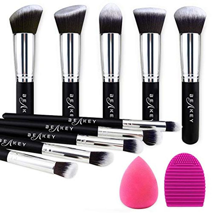 BEAKEY Makeup Brush Set Premium Synthetic