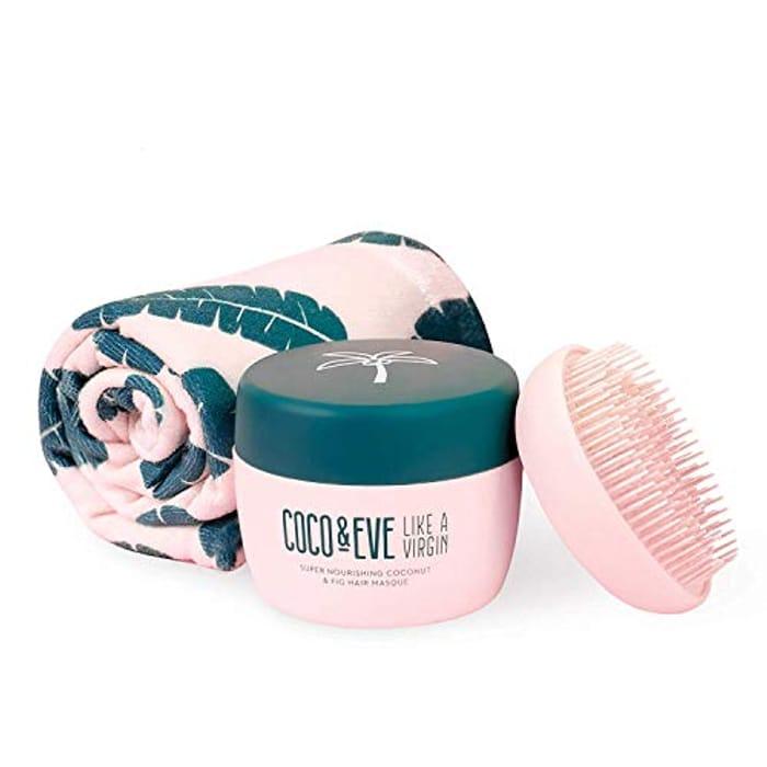 Coco & Eve Wrap Bundle. Hair Mask, Tangle Tamer and Microfibre Hair Towel Wrap