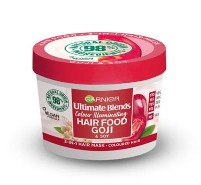 Garnier Ultimate Blends Hair Food Goji 3-in-1 Hair Mask for Coloured Hair
