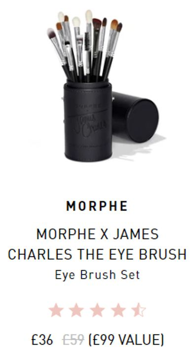 Up to 50% off Selected Morphe Products