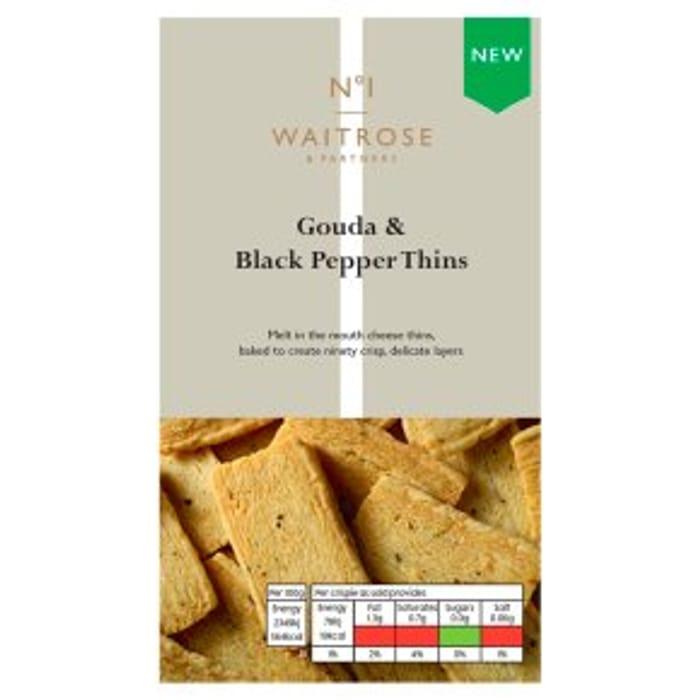 Gouda & Black Pepper Thins