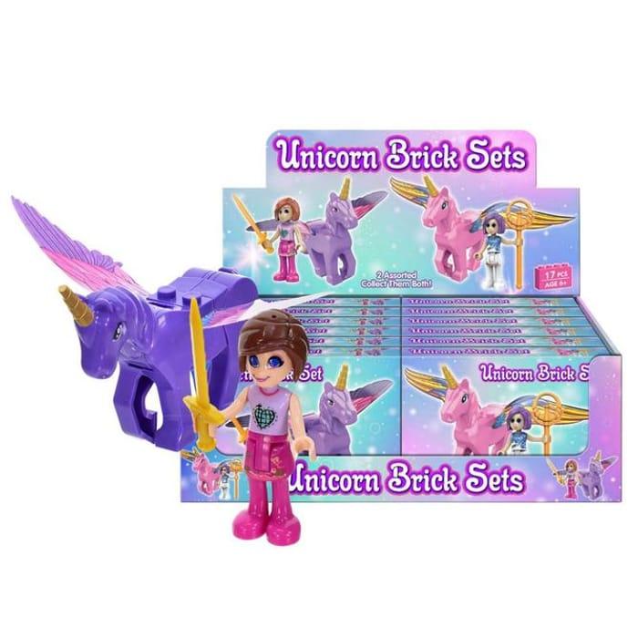 Unicorn Brick Buildable Figure Playset