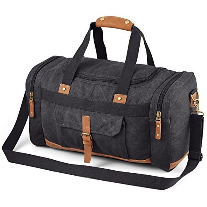 Canvas Holdall Large Weekend Bag Overnight Bag