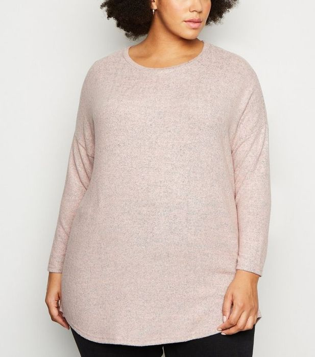 Cheap Apricot Curved Hem Jumper - Only £15!