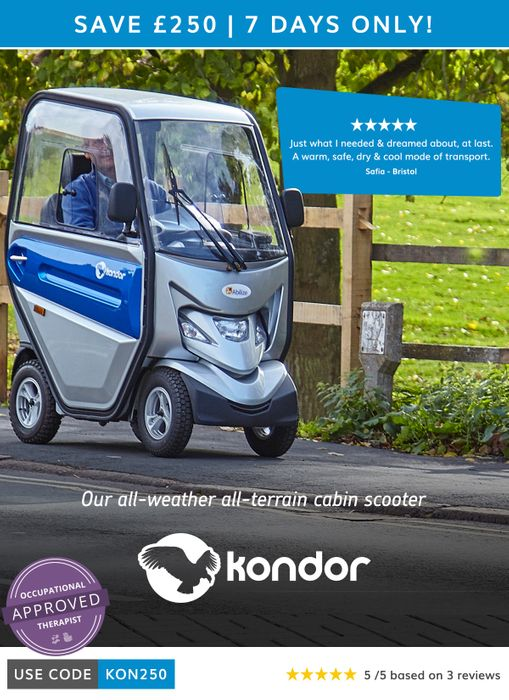 Save £250 on the Kondor Cabin Scooter