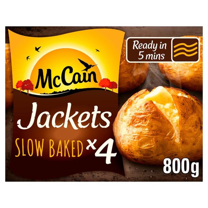 Cheap McCain 4 Frozen Baked Jacket Potatoes 800g Only £2!