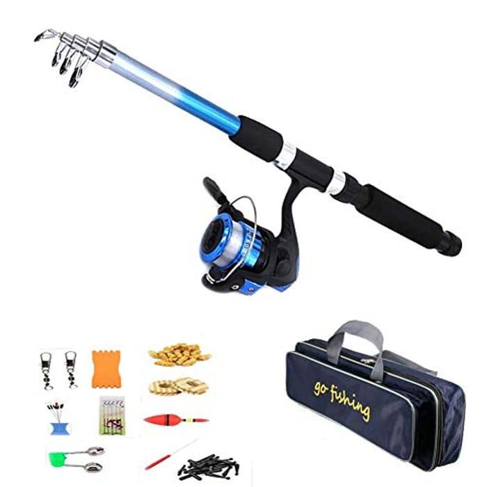 Supertop Fishing Rod Set -Portable Retractable Fishing Pole