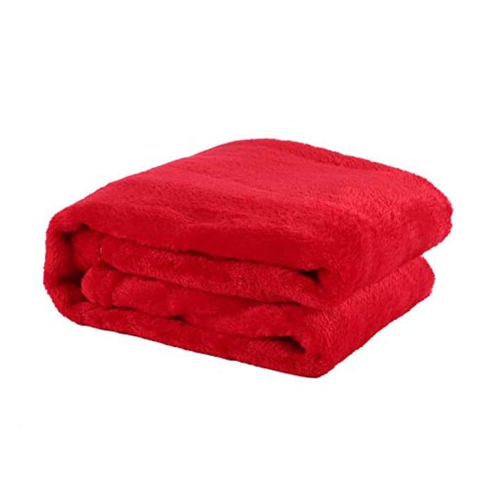 Red Super Soft Blanket