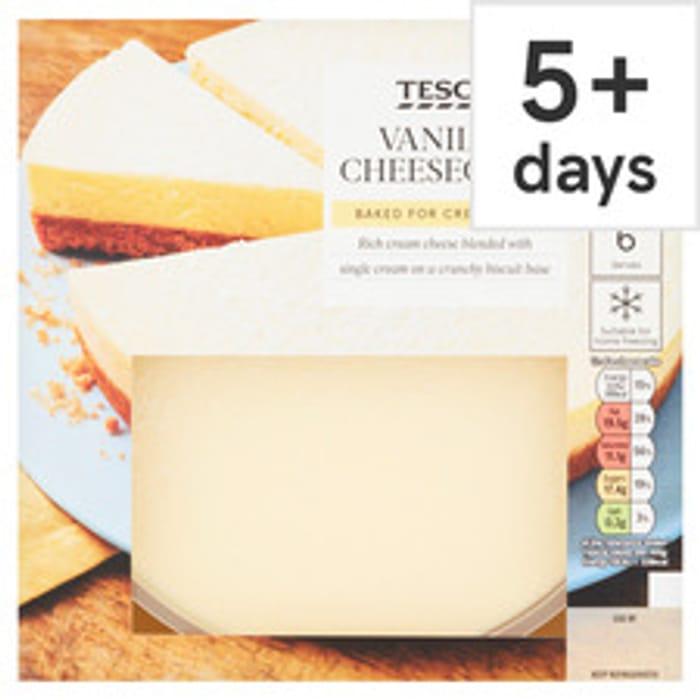 Tesco Vanilla Cheesecake 540G