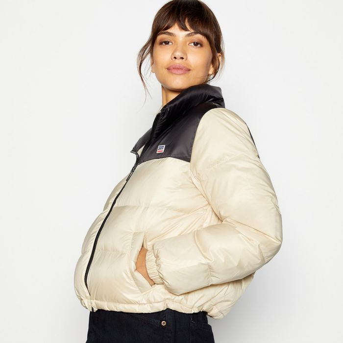Levi's - Taupe Feather and down Padded 'Francesca' Coat