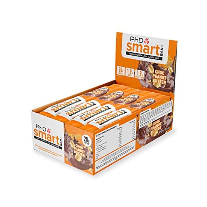 PhD Smart Bar High Protein Bar Chocolate Peanut Butter, 12x64g