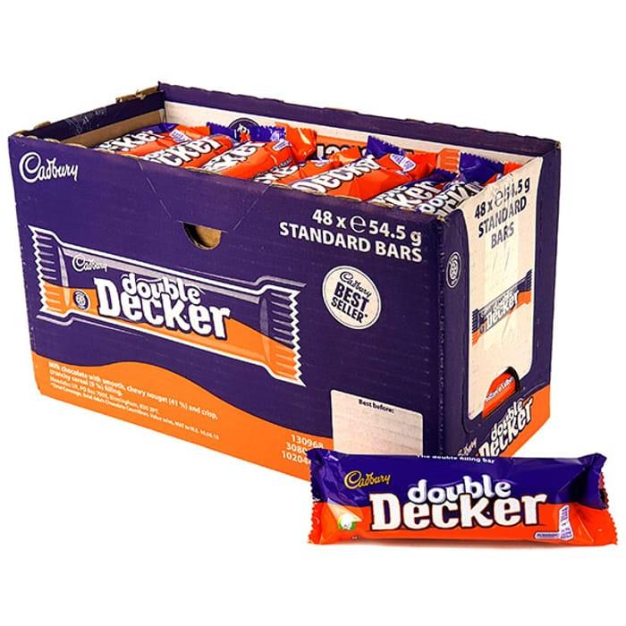 48 X Cadbury Double Decker 54.5g Chocolate Bars