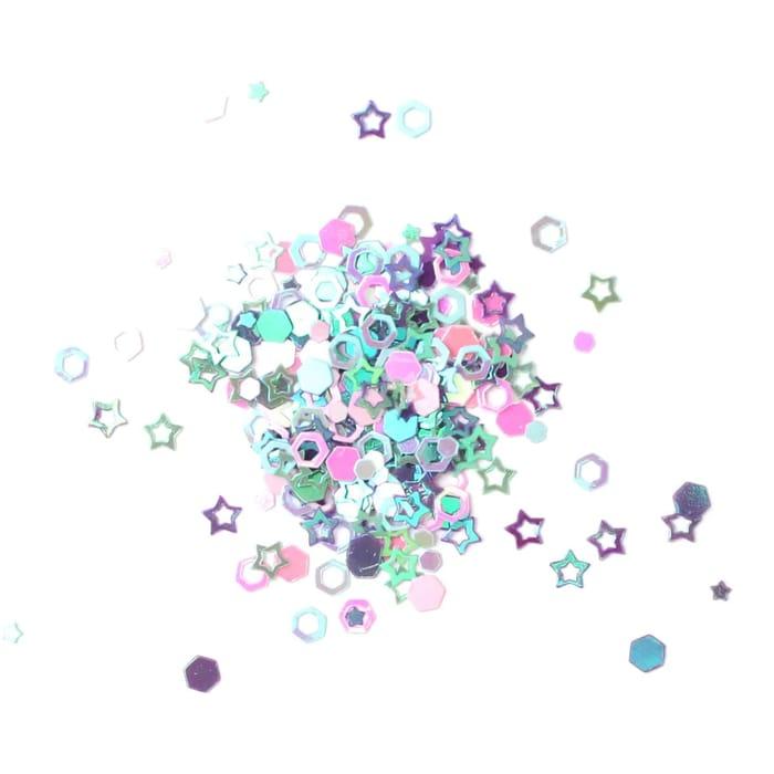 Pearl Star Shaped Glitter 20g