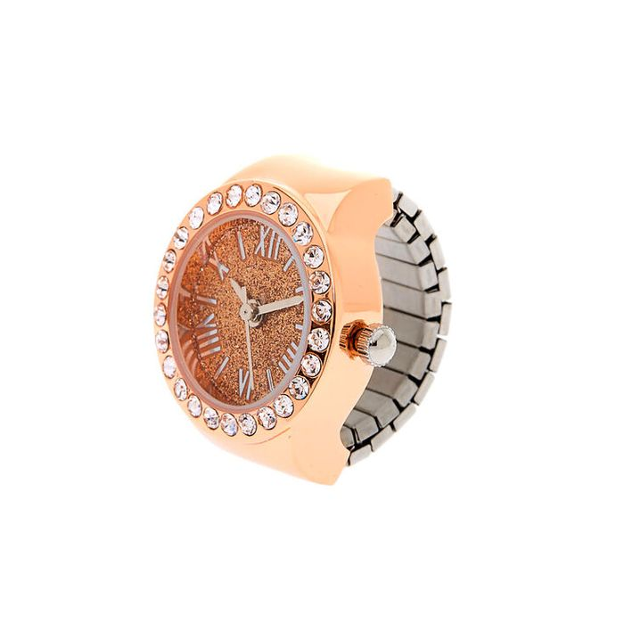 Cheap Rose Gold Glitter Ring Watch reduced by £11!