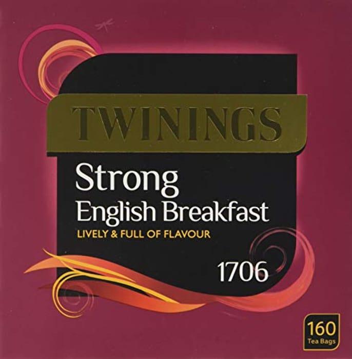 Twinings English Strong Breakfast Tea, 480 Tea Bags at Amazon