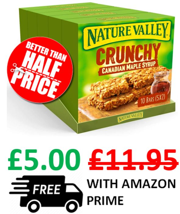 Nature Valley Crunchy Canadian Maple Syrup - 50 Bars