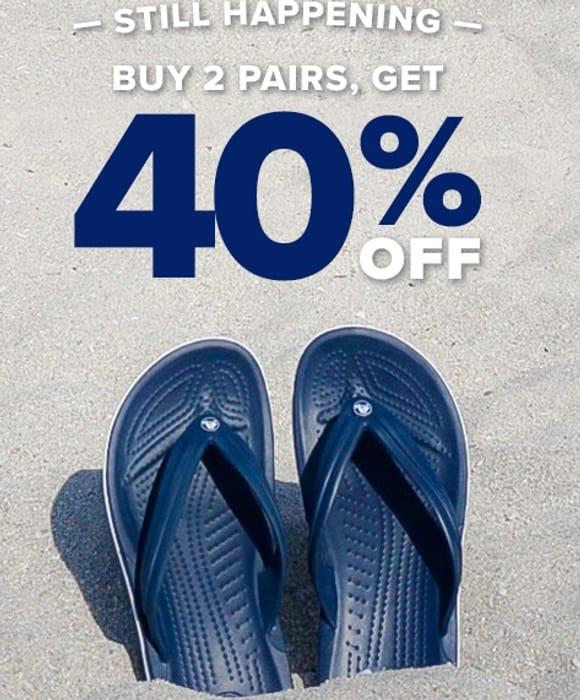 Crocs - Buy 2, Get 40% Off