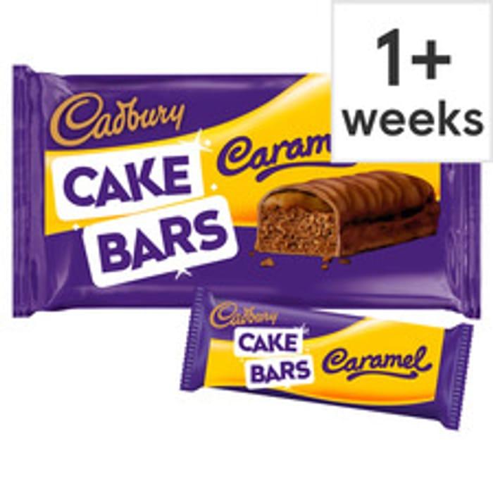 Cadbury Caramel Cake Bars 5 Pack