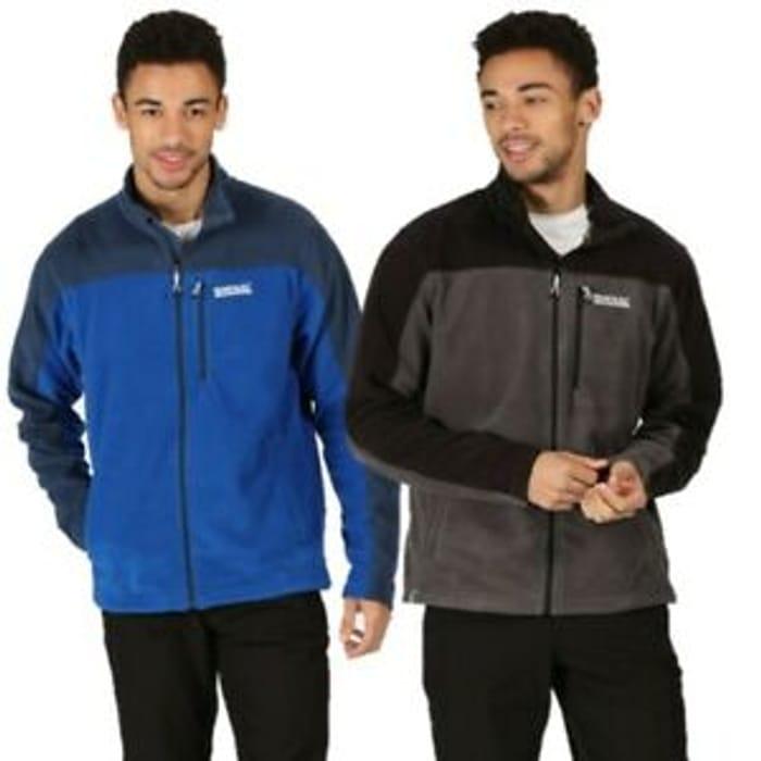 Regatta Mens Fellard Full Zip Fleece Jacket Blue Black