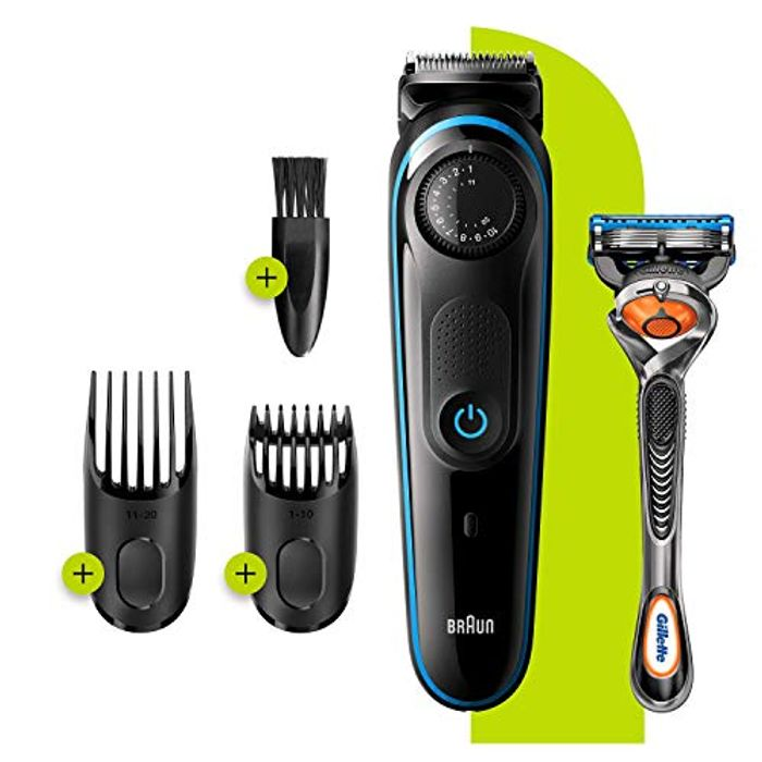 Braun Beard Trimmer BT3240 and Hair Clipper for Men