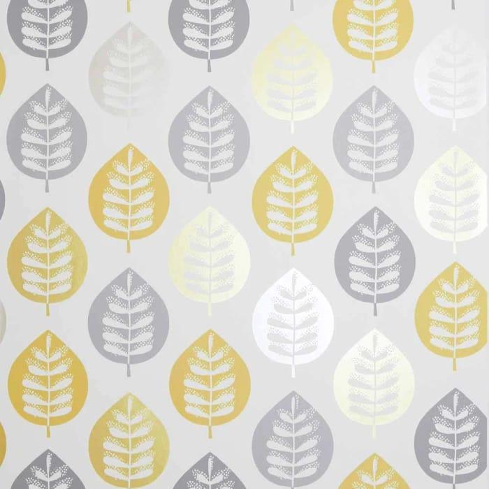 Arthouse Opera Amira Leaf Metallic Wallpaper Ochre