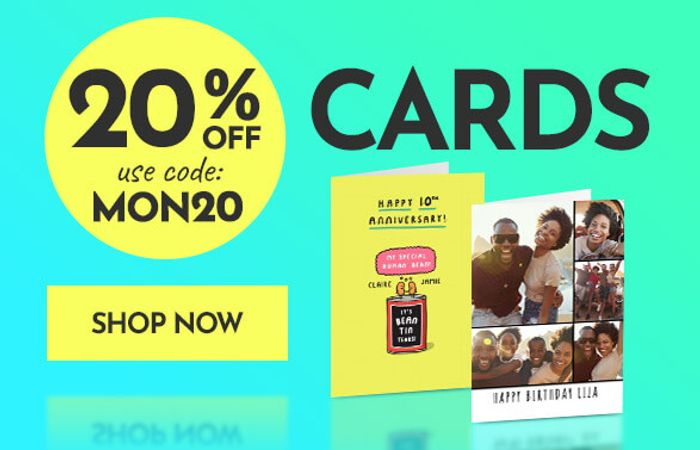 20% off All Cards