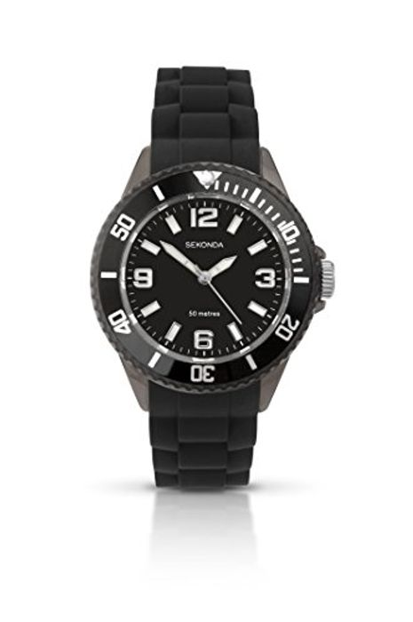 Sekonda Mens Analogue Classic Watch with Silicone Strap