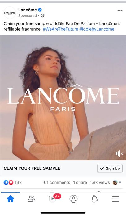 Free Lancome Idole Fragrance Sample.