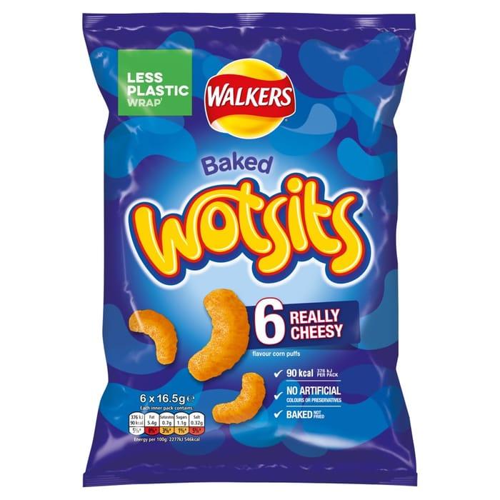 Walkers Wotsits Cheese 6x16.5g
