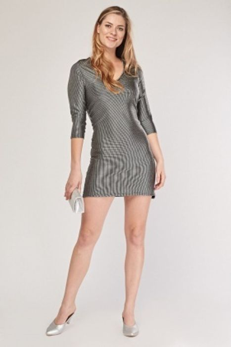 Metallic Textured Bodycon Dress