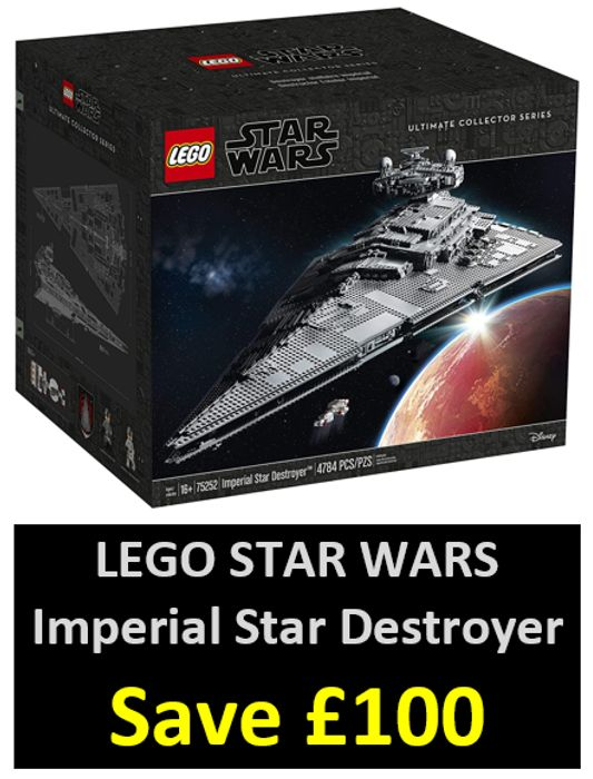 LEGO STAR WARS 75252 Imperial Star Destroyer - £549.99 at Amazon- Save £100