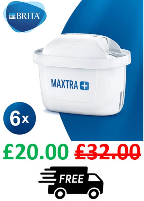 BRITA MAXTRA+ Water Filter Cartridges, Pack of 6 at Amazon