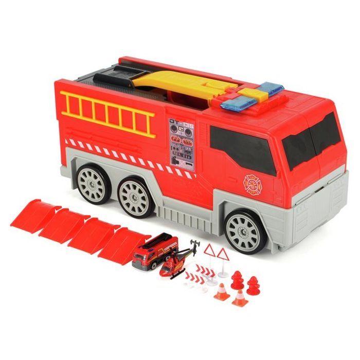 Chad Valley Folding Lights and Sounds Fire Truck Playset