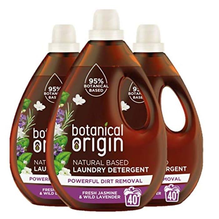 Botanical Origin Concentrated Eco Laundry Detergent, Fresh Jasmine and Lavender