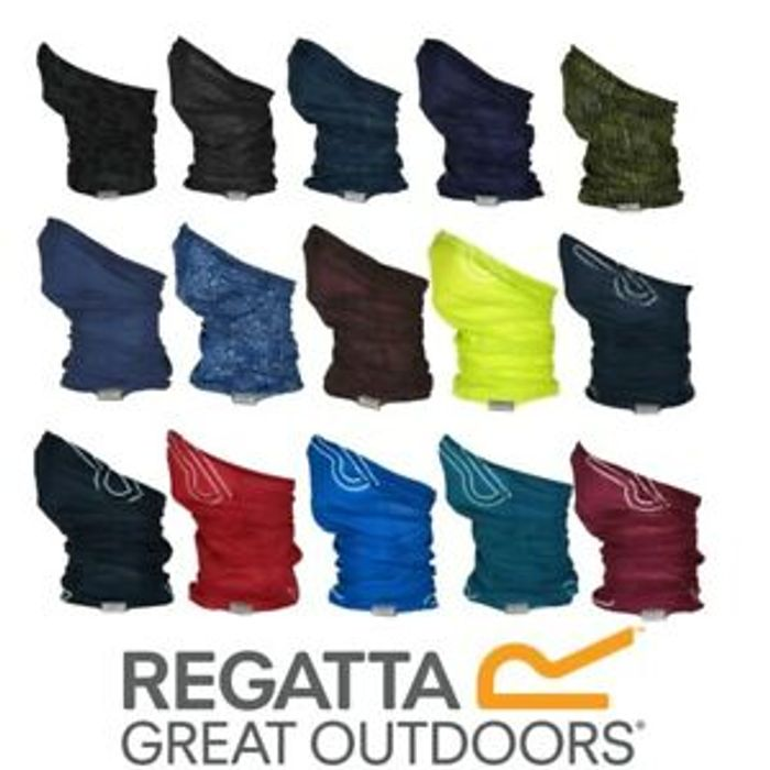 Regatta Adults Multi Tube Face Mask Snood Neck Gaiter Bandana