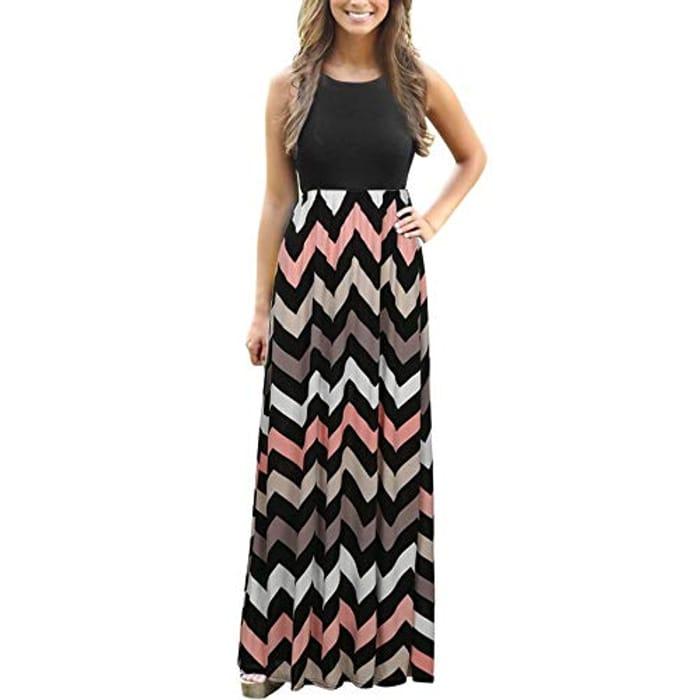 Women's Dress Striped Long Boho Dress