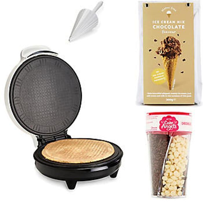 Zoku Waffle Maker and Chocolate Mix Bundle