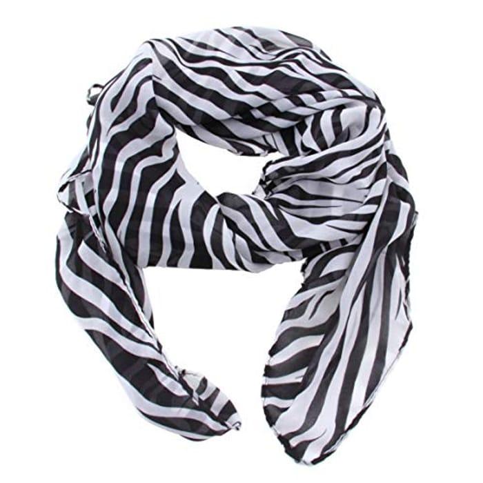 Summer Style Women Girls Chiffon Long Zebra Printed Scarf